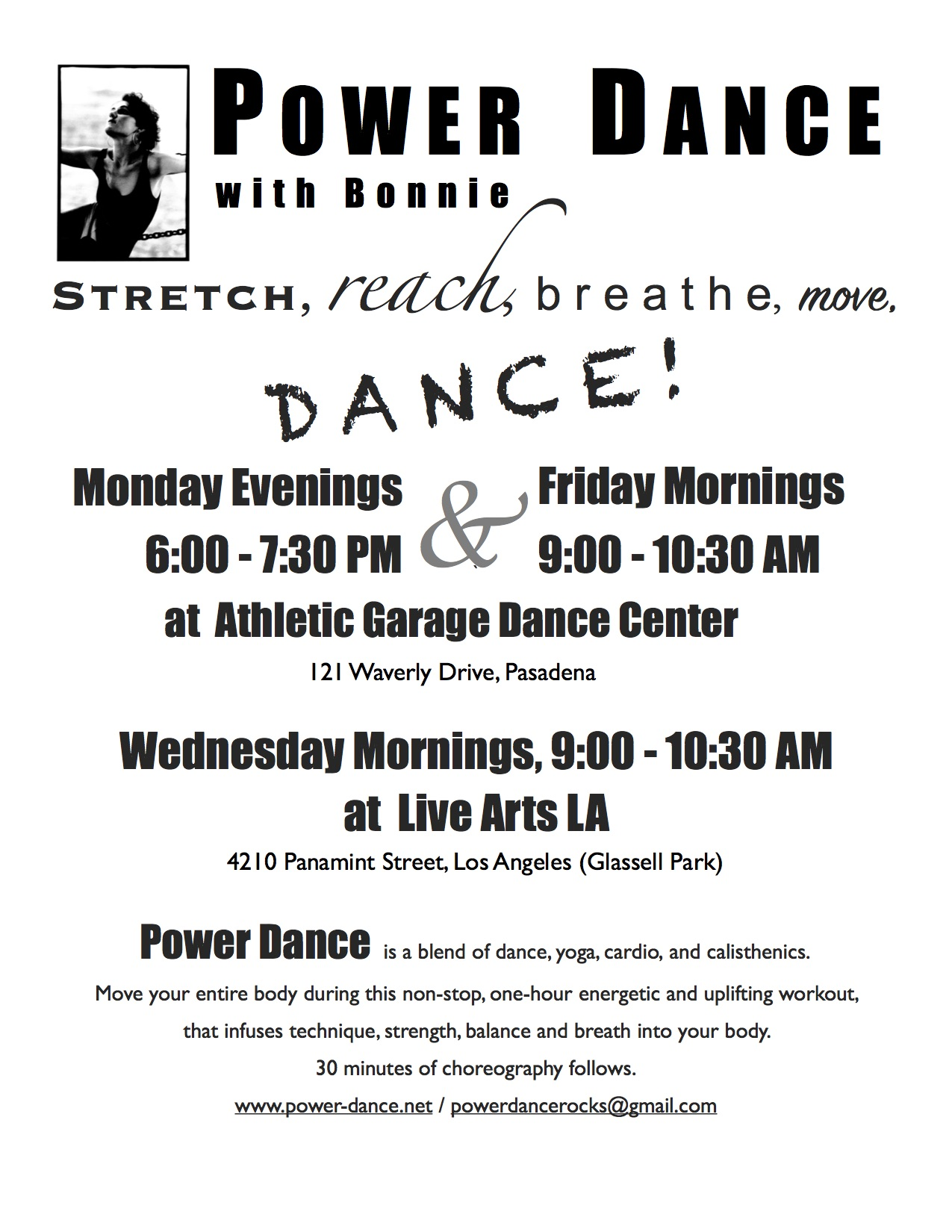 Power Dance Flyer 2016